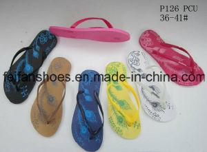 Новейшие женщин тапочки повседневный сандалии ПВХ флоп сметает (FFLT112201)