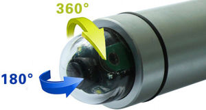 7 '' Digitale Camera van de Inspectie van het Afvoerkanaal/van het Riool/van de Pijp/van de Schoorsteen van het Scherm DVR Video7YA