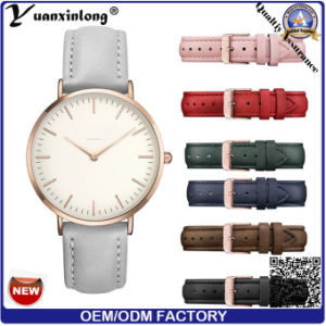 Relógio quente de Backcase do aço inoxidável da senhora Vouge Pulso Quartzo da forma Yxl-580 2016