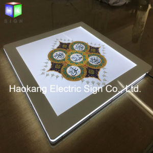 水晶LEDのライトボックスメニュー印が付いている磁気アクリルの額縁