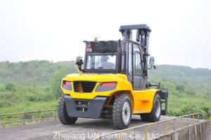 De op zwaar werk berekende 9.0t Opheffende Vorkheftruck van de Dieselmotor van het Instelmechanisme van de Vork van de Capaciteit 9000kg Automatische