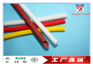 絶縁体の保護のためのFsgのシリコーンの上塗を施してあるガラス繊維の編みこみの管