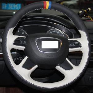 De zwarte Witte Echte Dekking van het Stuurwiel van de Teller van het Leer Rode Gele Blauwe voor Audi A3 (8V) A8 (D4) Q7 Q3 Q5 A4 (B8) A6 (C7)