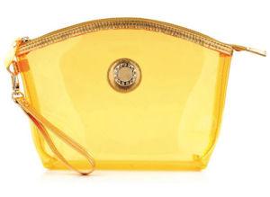 ゆで団子の形の黄色透過PVC化粧品袋
