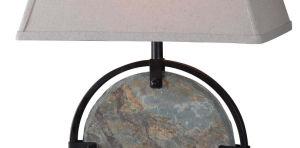 Lámpara de sobremesa de pizarra para interiores con certificado UL