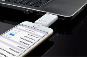 Leitor de cartão OTG com cartão de memória para Apple Ios Unidade Flash USB Android