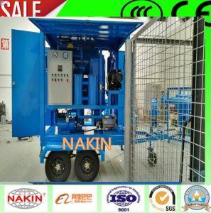 Vacío de tipo móvil purificador de aceite de transformadores con remolque (6000L/H)