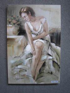 裸の油絵/肖像画の油絵/ボディ油絵
