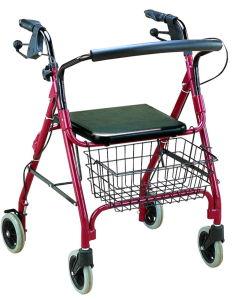 Rollator di alluminio con Seat e Wheels (FY966L)