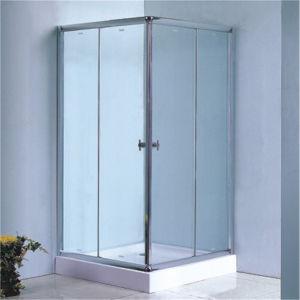 Приложение 90 ливня Tempered стекла ванной комнаты квадратное просто сползая
