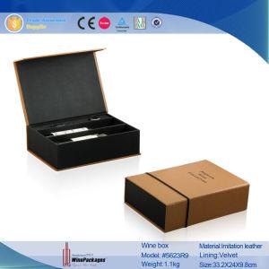 Contenitore personalizzato alta qualità di vino del cartone con il marchio stampato (5623R10)