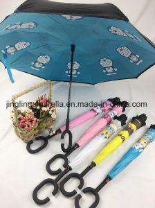 Omkeerbare Paraplu met de Ontwerpen van het Beeldverhaal