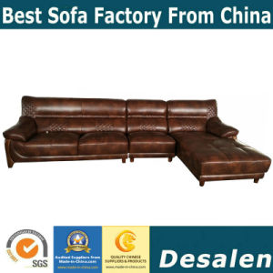 最もよい品質L形のホテルの家具の本革のソファー(A75)