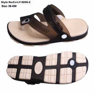 Le nouveau matériau faible MOQ Flip Flop les hommes de la production rapide de l'obstruer sandale