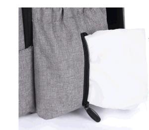 Sacchetto Yf-Pb0060 del bambino del sacchetto della madre del doppio della spalla del sacchetto del Mammy papà de grande capacità multifunzionale del latte