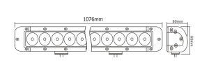 40 guide optique pilotant tous terrains de la barre 4X4 d'éclairage LED de pouce pour des camions