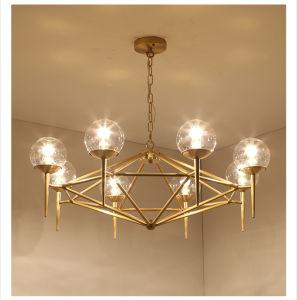 Modernes Bronzemessingkupfernes Leuchter-Glaslicht