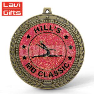 3D personalizadas Casting Jiu-Jitsu de oro Medalla de la Copa trofeo deportivo con cinta