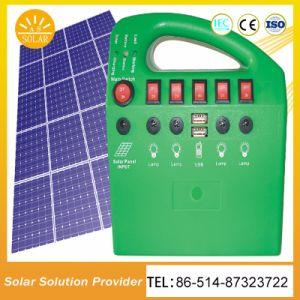 節電の高品質LEDの軽い太陽ホームシステム太陽キット