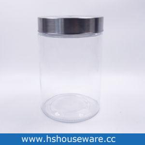 명확한 원형 둥근 투명한 실린더 사탕 음식 유리 단지