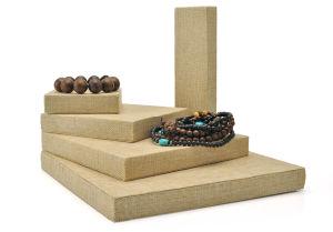 Modello di legno dell'interno della visualizzazione del fornitore del banco di mostra dei monili del velluto per i gioielli (Ys65)