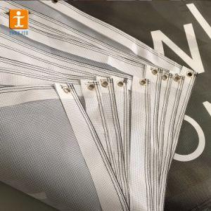 Дешевые Custom 110 GSM полиэфирная ткань Mesh ограждения баннер