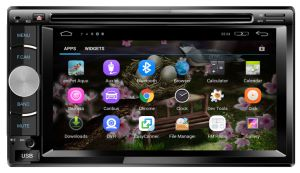Tela de toque o Android Car Navigator Sistema Multimédia 2DIN Android Universal Car Leitor de DVD