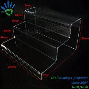 Visualizzazione in due tappe acrilica libera dei pattini, cremagliera del banco di mostra dei pattini
