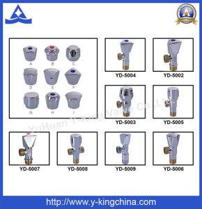 Fábrica de latón de alta calidad de las ventas de ángulo de la válvula de bola (YD-5009)
