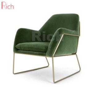Mobiliario de casa cubierta de terciopelo el marco de metal sofá