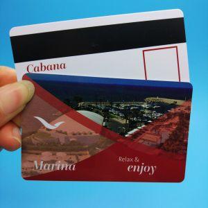 125 kHz de PVC em4200 de proximidad RFID tarjeta prepago de cinta magnética.