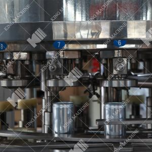アルミ缶ビール満ちる生産ライン