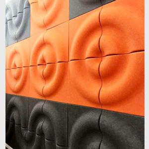 dekoratives akustisches Panel der fehlerfreien Absorptions-3D
