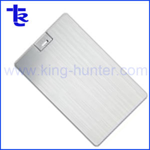 Серебристый флэш-накопитель USB кредитной карты памяти для компании подарок