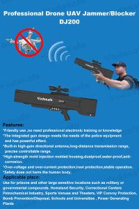 55W Profesional Drone Uav Jammer/Blocker Jammer para RC2.4GHz/RC5.8GHz/GPSL1/GPSL2+GPSL5