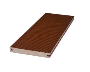 En PVC de haute qualité Co-Extruded tablier de bois d'administration, décoration extérieure