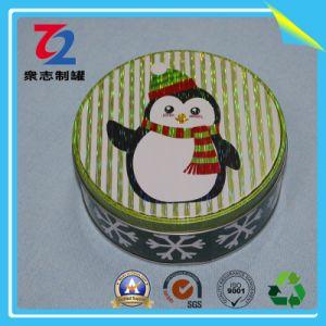 Customized 0,20-0.40mm Caixa de estanho redonda de metal de cookie