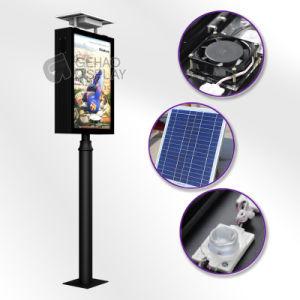 Pantalla LED de exterior Lightbox Billboard con el sistema de Energía Solar