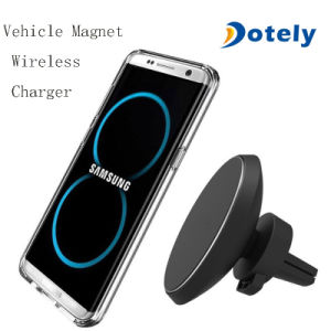 2-в-1 автомобильного зарядного устройства беспроводной связи сопла вентиляции приборной панели магнитный держатель телефона для установки на машины