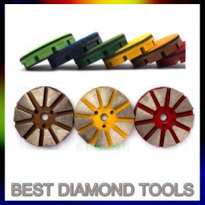 disco di molatura concreto del pavimento del diamante schiavo del metallo 3 con 10 la granulosità dell'appoggio 6# di Vecro di segmento del diamante