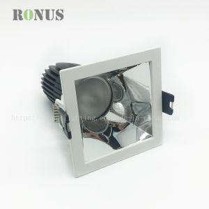 Foco LED MR16 de la Mazorca cuadrado de 5W Punto de luz brillante lámpara de techo plateado Downlight iluminación interior