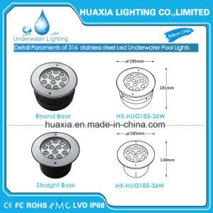 indicatore luminoso subacqueo del raggruppamento messo IP68 di 316ss LED con la base del PC