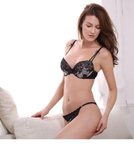 Comercio al por mayor ropa interior sexy chica y Panty conjunto