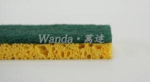 Éponge en cellulose Cuisine Scourer éponge de nettoyage avec des tampons à récurer à usage intensif