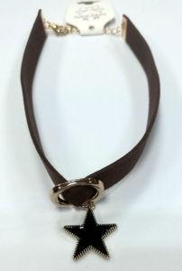 Collana del Choker dei monili di modo con il tasto con i Rhinestones
