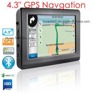 4.3 OEM Alquiler de vehículo camión Navegador GPS portátil de navegación GPS, PDA con sistema de navegación GPS Bluetooth Mapa, Mapa de Navitel con velocidad de la Cámara de aparcamiento trasero