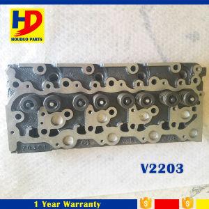 V2203 de Cilinderkop Assy van de Motor Met Klep voor Motor Kubota