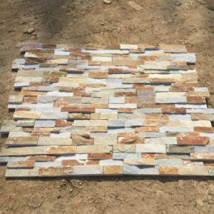 Mur de pierres empilées de grès naturel de panneaux (SMC-SCP429)
