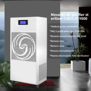 Carcasa metálica móvil CE quitar el olor Humo de segunda mano Home UVC purificador de aire