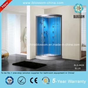 Cristal templado en el hogar de la esquina de masaje completo cuarto de ducha de vapor /Bls-9828 azul